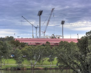 Construction at Adelaide Oval