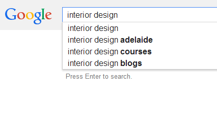 interior design seo analysis
