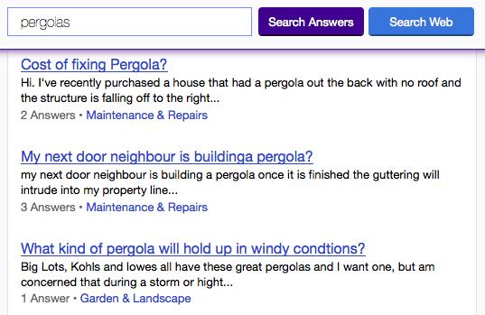 Yahoo Answers Search